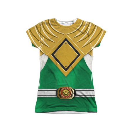 White Mighty Morphin Power Ranger Costumes Adults (Mighty Morphin Power Rangers Green Ranger Juniors Sublimation)