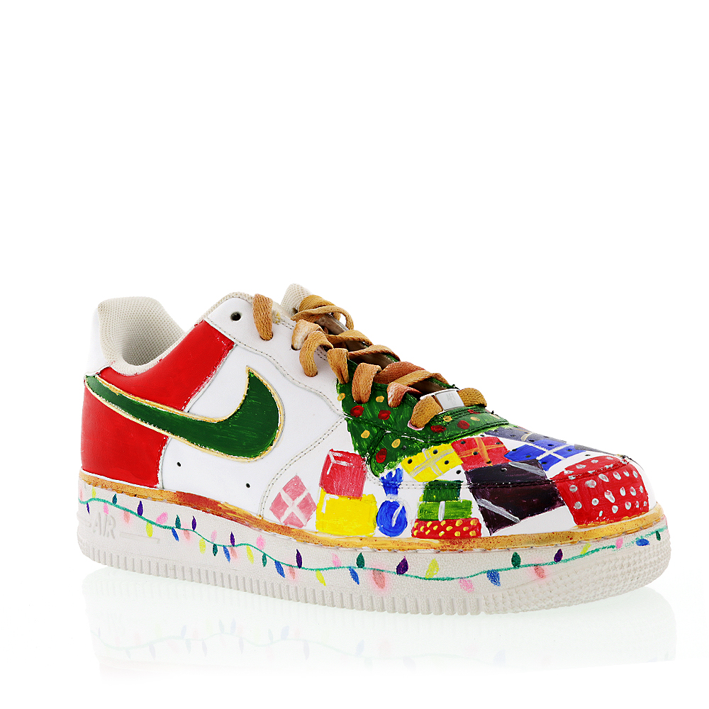 Nike Men'S 07 Air Force 1 Hand Painted Sneaker Size 10