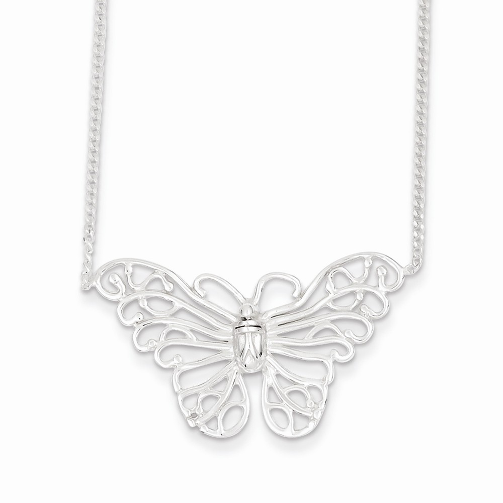 Goldia Sterling Silver 18 Inch Butterfly Necklace
