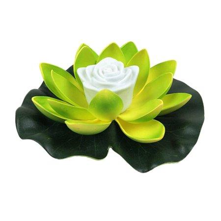 LED Floating Lotus Flower Lamps On Water Swimming Pool Garden Decoration Light Garden Tank Pond Decor Floating Flower Lights
