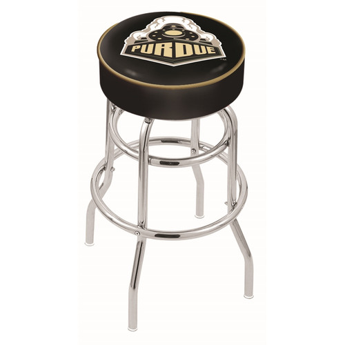 NCAA Swivel Stool with Double Ring Base by Holland Bar Stool, 25'' - Purdue