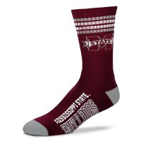 Mississippi State Bulldogs For Bare Feet Women's Four Stripe Socks