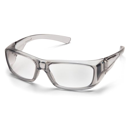 SB7910DRX Emerge Black Frame with Clear Lens, Stylish Dual Lens With Full Eye Protection, Plano Lens, Prescription Lens, And Full Reader Lens Adaptable By Pyramex Safety](Halloween Contact Lens Without Prescription)