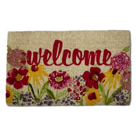 TAG Fresh Flowers Coir Doormat
