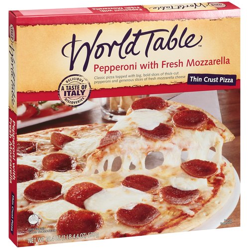World Table Wt Pepperoni & Fresh Mozz Thin Pizza