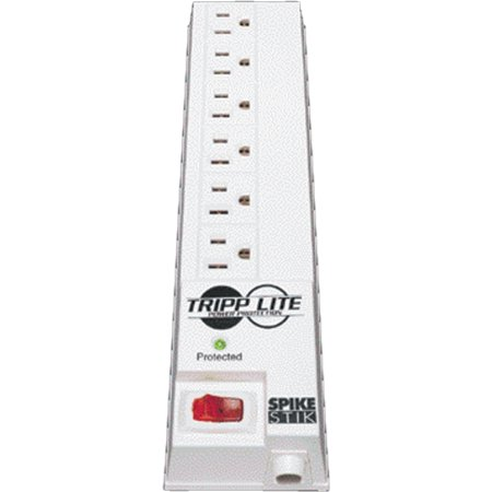 Tripp Lite Surge Protector Power Strip 120V RT Angle 6 Outlet 6' Cord 540 Joule - Receptacles: 6 x NEMA 5-15R - 540J
