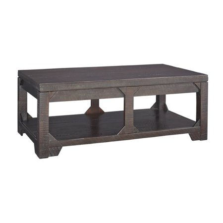 Ashley Rogness Lift Top Coffee Table In Rustic Brown Walmart Canada