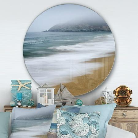 DESIGN ART Designart 'Gray Whale Cove' Nautical & Coastal Metal Circle Wall Art