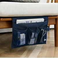 Siaonvr Bedside Sofa Table Cabinet Storage Organizer Pocket Oxford Cloth Book Phone Bag