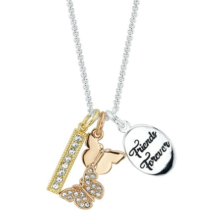 14k Gold Butterfly Necklace (Believe by Brilliance 14kt Gold Flash Plated Crystal