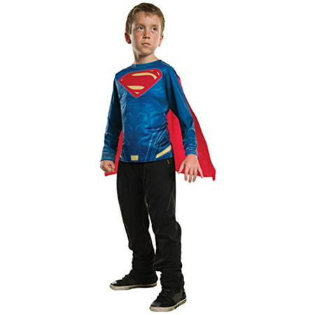 Justice League Boys Superman DC Childs Superhero Costume Top Shirt](Superheroe Costume)