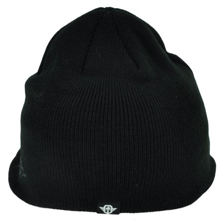 Ufo Cap - Tapout Bill Knit Beanie Toque Cuffless Black Red MMA Cage Fight UFC One Size