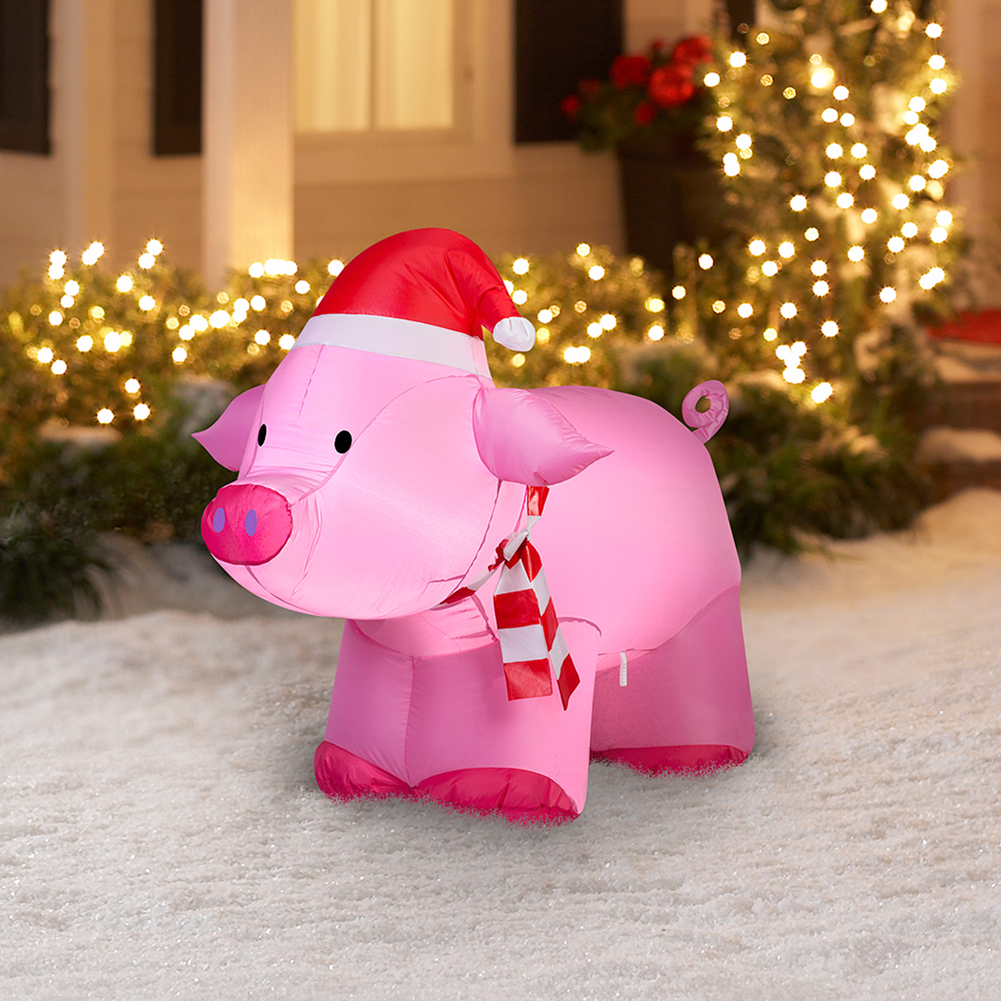 gemmy airblown inflatable 3 pig christmas decoration walmartcom - Pig Christmas Decorations Outdoors