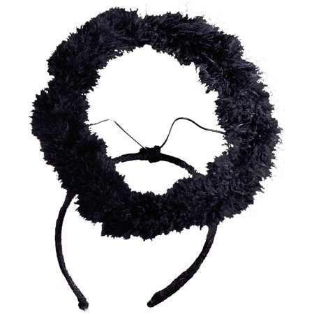 Black Halo Marabou Adult Halloween Accessory (Hall Halloween)