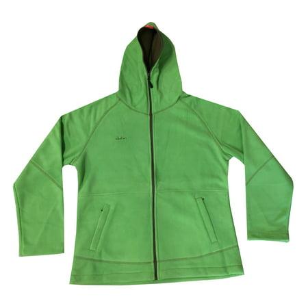 Clothin Men Full Zip-Up Slim Fit Fleece Hoodie Jacket Coats Green Asian 3XL US