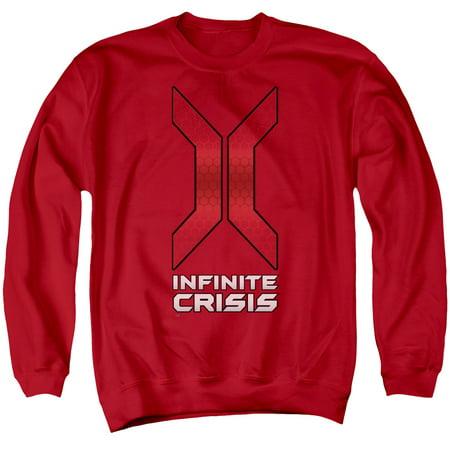 Infinite Crisis DC Comics Video Game Title Logo Adult Crewneck Sweatshirt - Dc Infinite Halloween Special #1