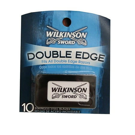 Blade Cross - Wilkinson Sword Double Edge Razor Blades, 10 ct. (Pack of 1) + LA Cross Tweezers 71817
