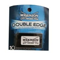 Wilkinson Sword Double Edge Razor Blades, 10 ct. (Pack of 1) + Curad Bandages 8 Ct.