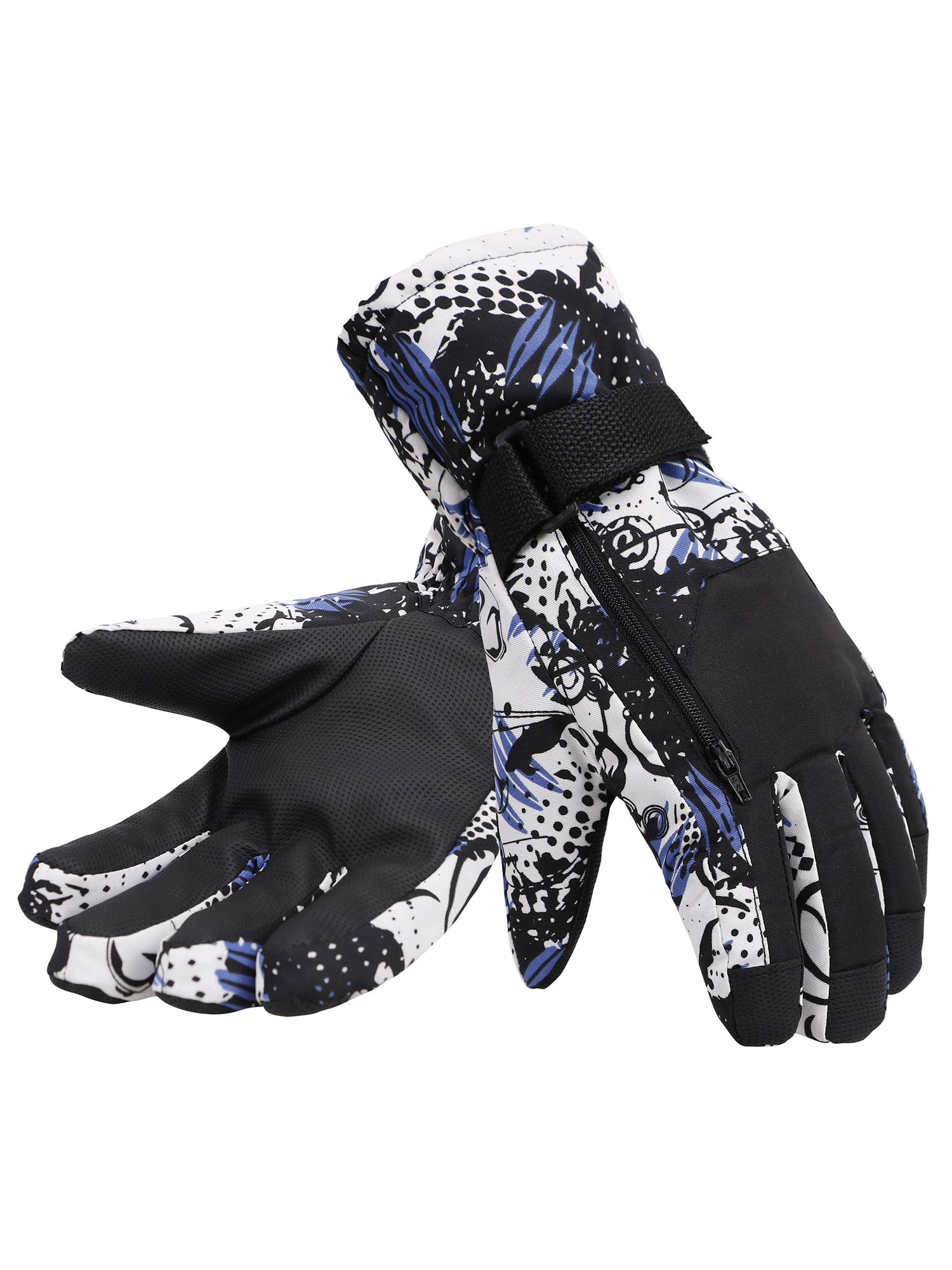 Simplicity Men's Camouflage Ski & Snowboarding 3M Thinsulate Water Resistant Winter Gloves,M,BlueCamo