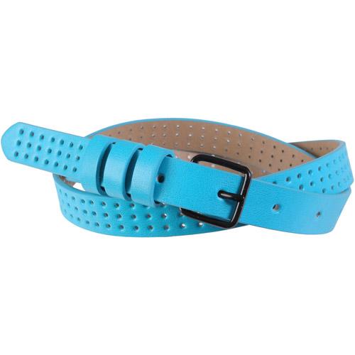 Brinley Co Womens Neon Pin Hole Skinny Belt