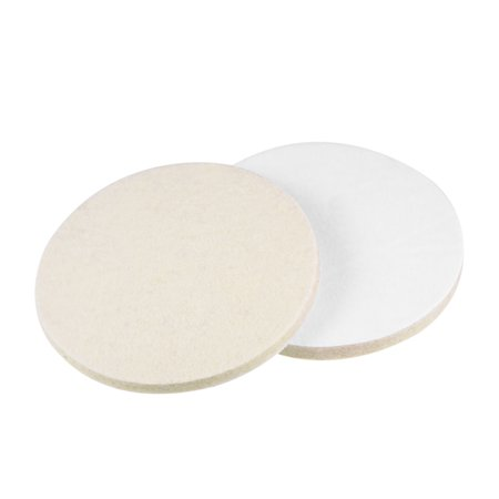 5 inch Wool Felt Polishing Pad Buffing Wheel Polish Pad Disc,Flocking Hook & Loop Back for Random Orbital Sander 2pcs (Buffing Wheel 8 Inch)