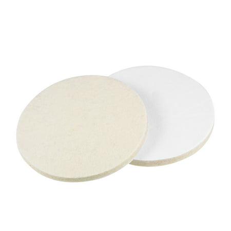 5 inch Wool Felt Polishing Pad Buffing Wheel Polish Pad Disc,Flocking Hook & Loop Back for Random Orbital Sander (3 Inch Hook And Loop Polishing Pads)