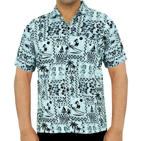6ef1c204 Hawaiian Shirt Mens Beach Aloha Camp Party Casual Holiday Tropical Shirt  Palm Tree Print Cotton B