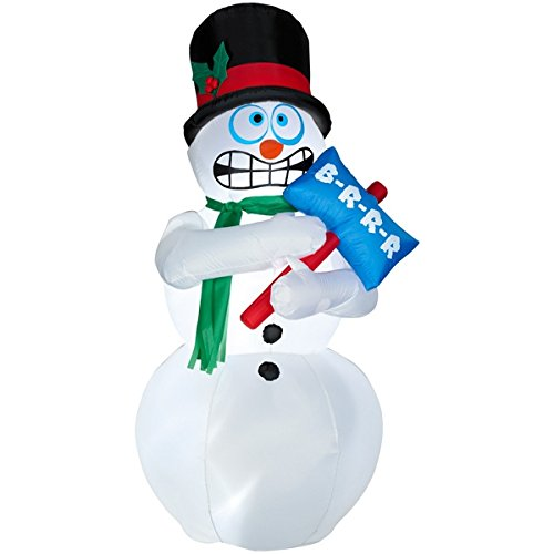 6 FT Animated Airblown Inflatable Shivering Snowman