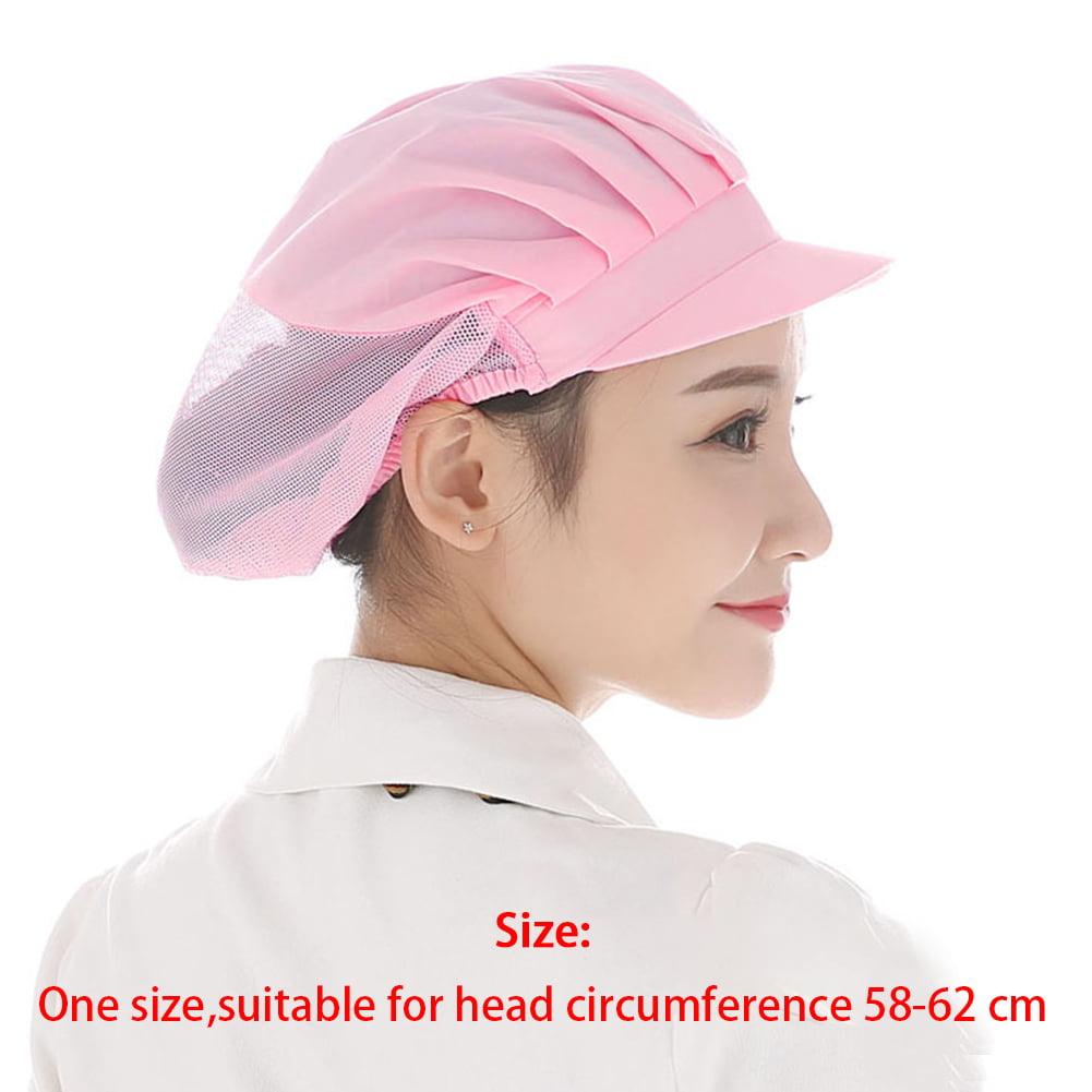 Men Women Cooking Kitchen Baker Chef Elastic Hat Dustproof Catering Full Cap New