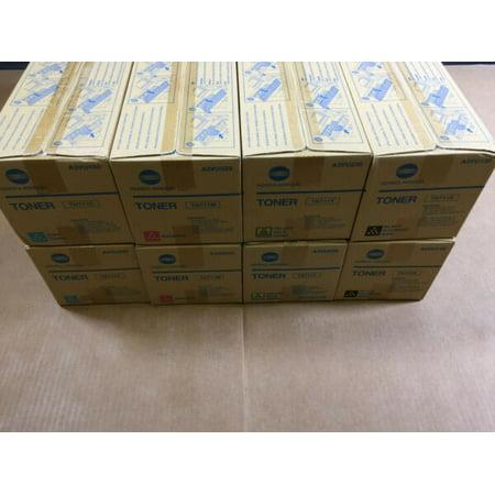 - 2 Sets Genuine Konica Minolta TN711 CMYK Toner for Bizhub C654 C654e C754 C754e