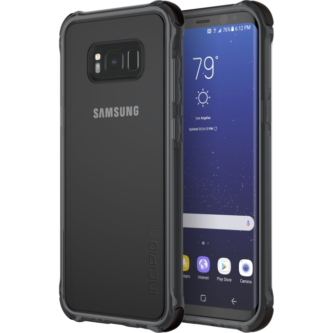 Incipio Reprieve [Sport] Protective Case With Reinforced Corners for Samsung Galaxy S8+ - Smartphone - Clear, Black, Translucent - 12 ft Drop Height