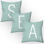 Checkerboard, Ltd Letters of the Sea Throw Pillow (Set of 3)