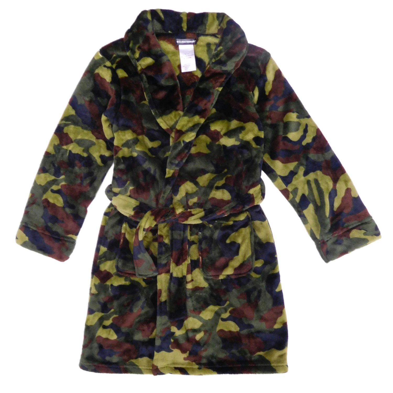 Climatesmart Boys Camouflage Plush Housecoat Bathrobe M