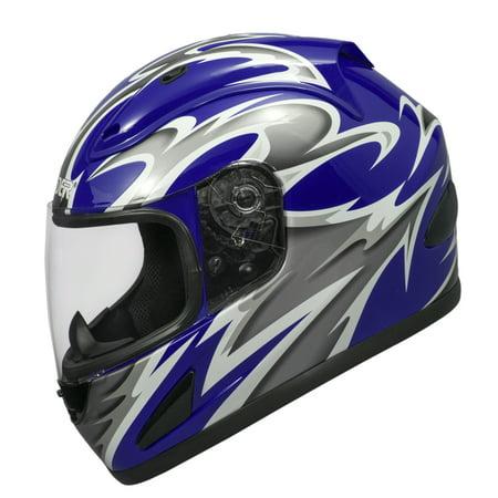 Raider Full Face Motorcycle Helmet Street Bike Helmet DOT Approved 661 Full Face Helmet