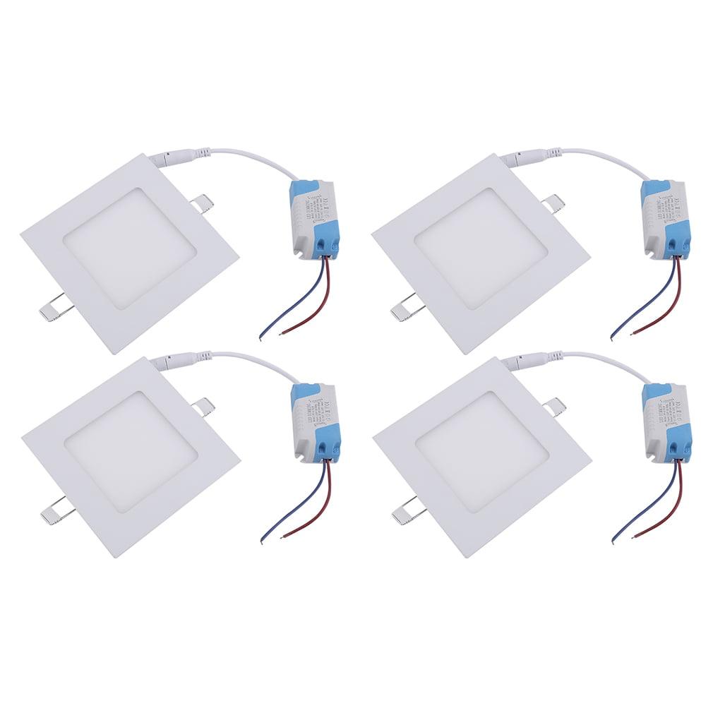 4pcs/set Square Shape 18W AC85-265V LED Panel Light Dimmable Ceiling Light Natural White