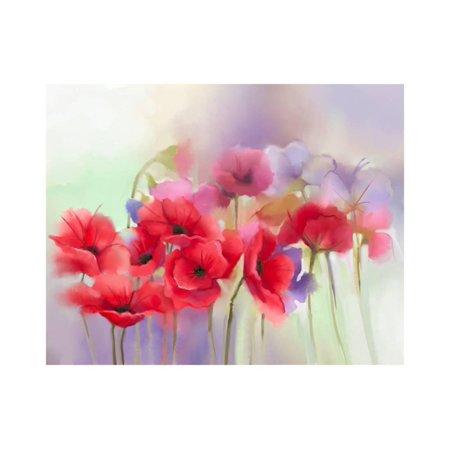 Watercolor red poppy flowers painting flower paint in soft color watercolor red poppy flowers painting flower paint in soft color and blur style soft mightylinksfo