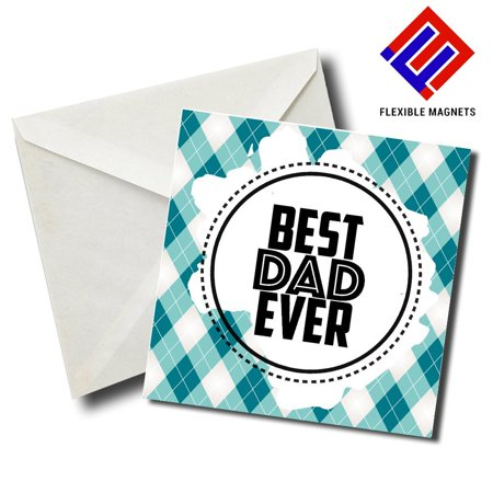 Best Dad Ever 02 Stylish Magnet for refrigerator. Great Gift! By Flexible