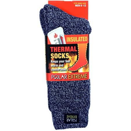 Polar Extreme Mens Insulated Thermal Socks Walmart Com