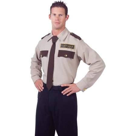 Men's State Trooper Law Enforcement Costume Shirt