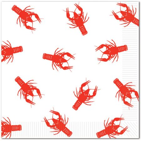 Crawfish Luncheon Napkins - Crawfish Boil Party Supplies