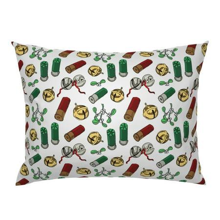 Christmas Hunter' Holiday Gift For Gun Lover Mistletoe Pillow Sham by Roostery ()