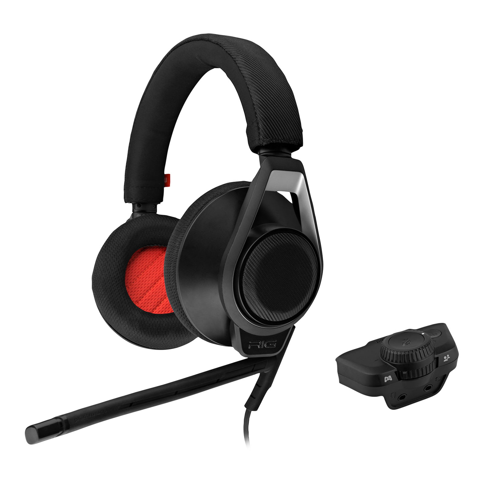 Plantronics RIG Flex LX Gaming Headset and Advanced Audio Adapter (Black) Certified (Certified Refurbished)