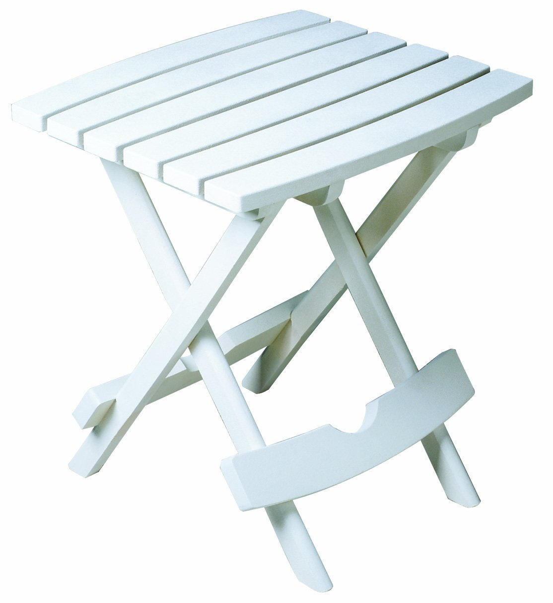 8500 48 3700 Plastic Quik Fold Side Table White Ideal Size Toplement Patio Chairs Adirondacks Or Chaise Lounges By Adams Manufacturing