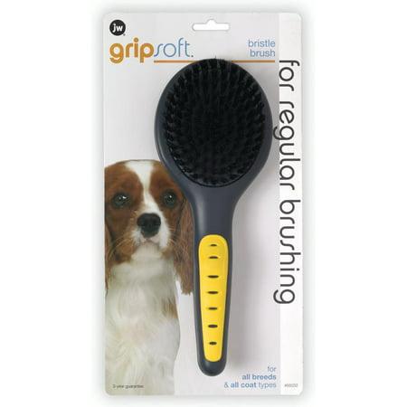 JW Pet GripSoft Bristle Dog Brush JW GRIPSOFT BRISTLE BRUSH