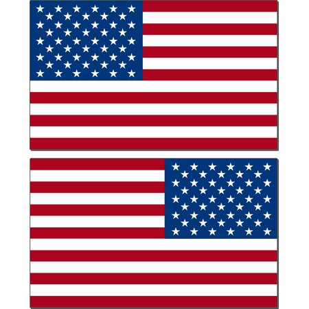 American Red, White, and Blue flag- mirrored 2pack- 3
