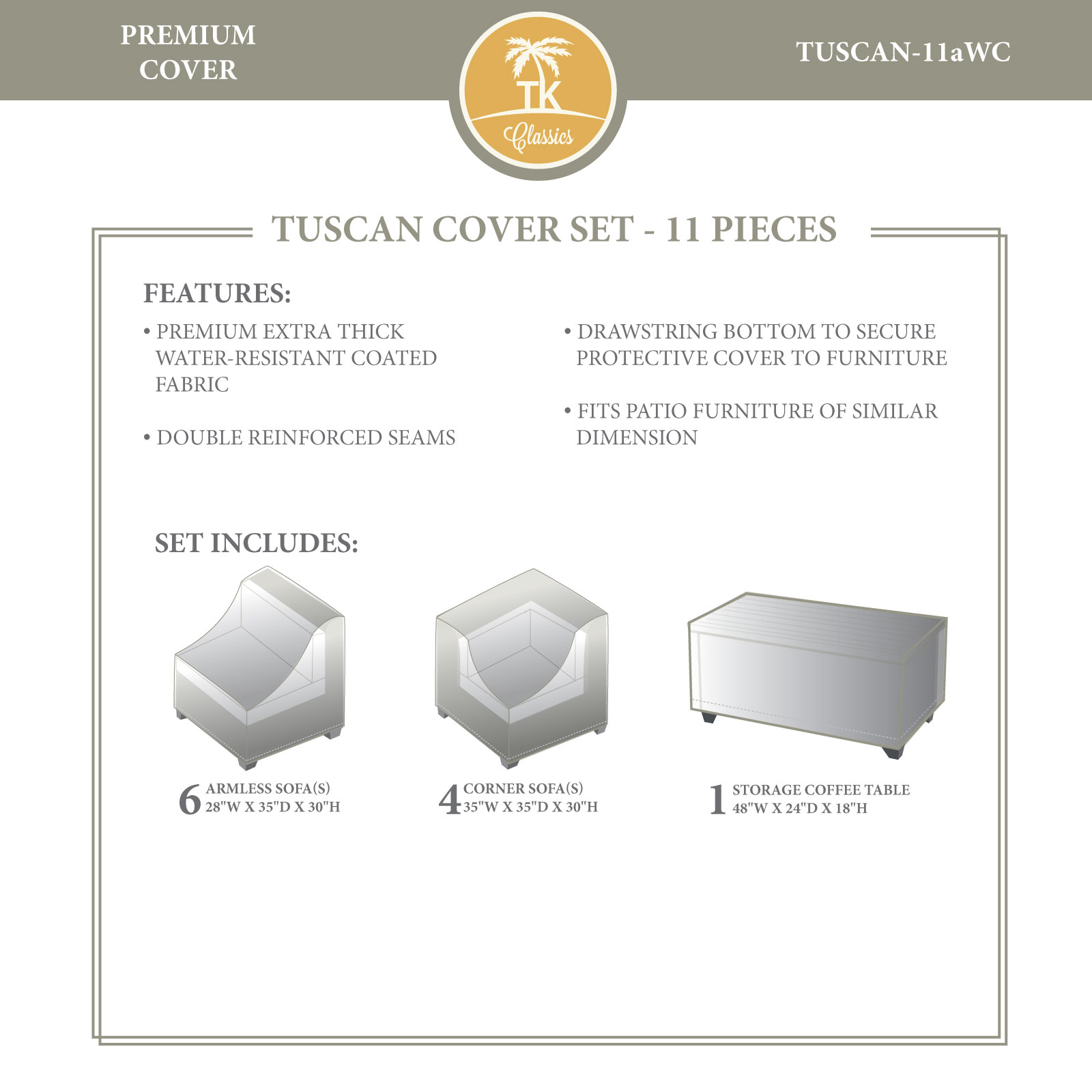 TUSCAN-11a Winter Cover Set