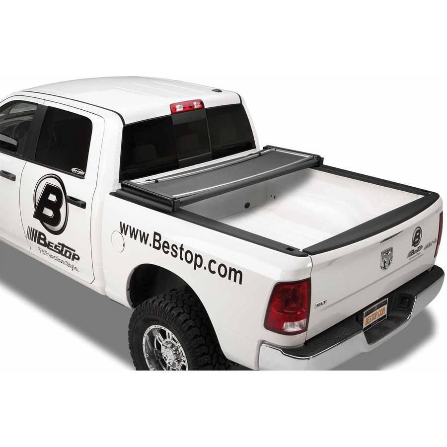 Bestop 16238-01 Dodge Ram 1500/08-09 Ram 2500/3500 with Out Tailgate Spoiler 6.3' Ez-Fold Tonneau Cover, Black