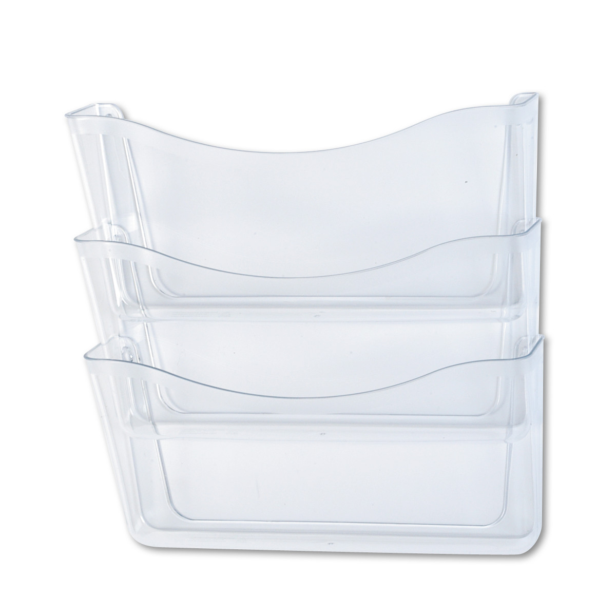Rubbermaid Unbreakable Three Pocket Wall File Set, Letter, Clear -RUB65976ROS