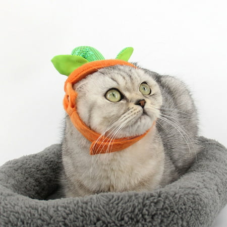 Cute Pet Headgear Funny Pumpkin Shape Pets Hats for Cat Dog Halloween Holiday Ornament