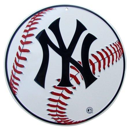 NY Yankees Logo Baseball Tin Sign US Made Game Room Man Cave Bar Pub Wall - Baseball Wall Decor